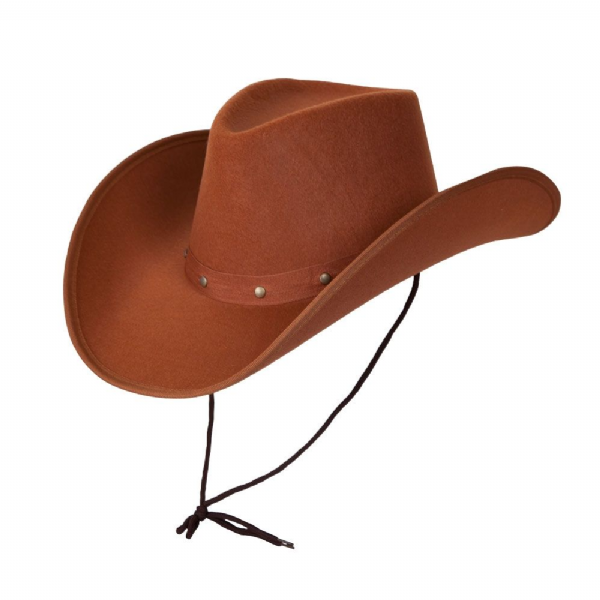 Texan Cowboy Hat - Brown